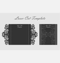 laser cut gate door fold card wedding invitation vector image