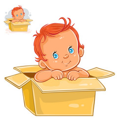 little baby with white skin vector image