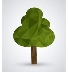 Low Poly tree design vector