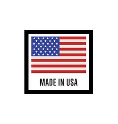 Made in usa isolated label for products vector