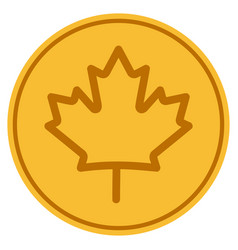 maple leaf gold coin vector image