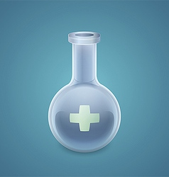 Medical round bottom flask vector