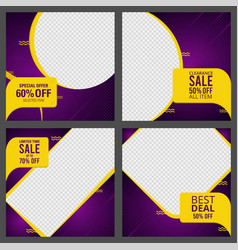 modern abstract geometric sale banners set vector image