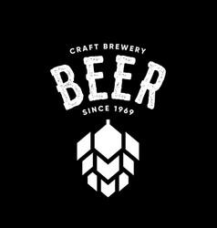 Modern craft beer drink logo sign for bar vector