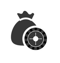 Money bag casino vegas icon vector