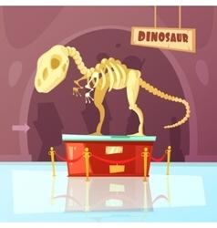 Museum dinosaur vector
