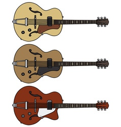 Old electric guitars vector image