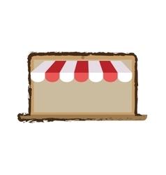 Online shopping laptop sale e-commerce sketch vector