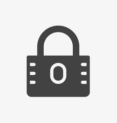 padlock icon security icon glyph solid style vector image