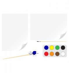 paper brush colors vector image