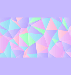 pastel bright iridescent low poly backdrop design vector image