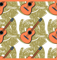 pattern seamless guitar-03 vector image