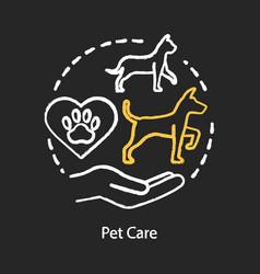 Pet care chalk concept icon domestic animals vet vector