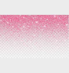 Pink glitter sparkle on a transparent background vector