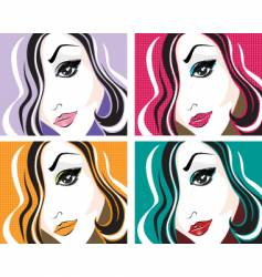 pop art face vector image