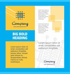 processor company brochure title page design vector image