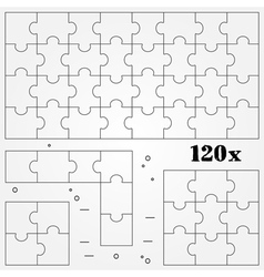 Puzzles Thin line for web and mobile modern minima vector image