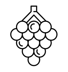 Raw grape icon outline style vector