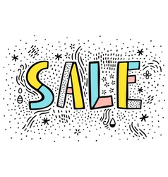 Sale doodle sign on white background vector image