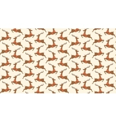 Seamless Christmas Pattern with Santa Reindeers vector image