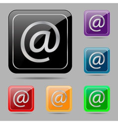 Set buttons e mail vector