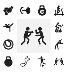 Set of 12 editable exercise icons includes vector