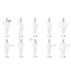 Set of with chef characters vector