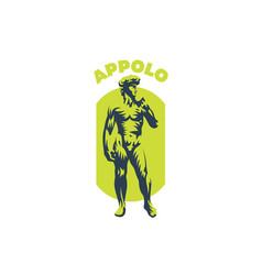 statue of david or apollo vector image