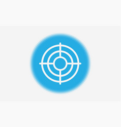 target icon sign symbol vector image