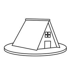 Triangular house or home icon image vector