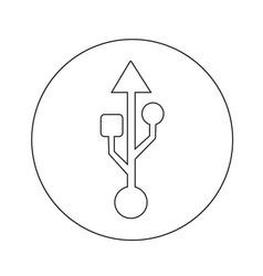 Usb icon design vector