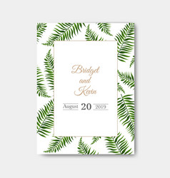 wedding invitation isolated vector image