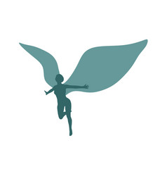winged goddess icon vector image