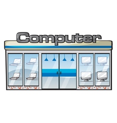 a computer store vector image vector image