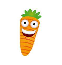 color kawaii happy carrot icon vector image vector image