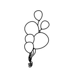 contour bolloons party icon vector image vector image