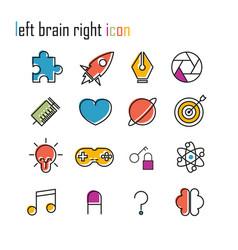 Line icons brain icon modern infographic logo vector