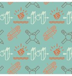Seamless school pattern vector image vector image