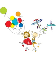 children play vector image vector image