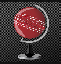 criket criket globe isolated over vector image vector image