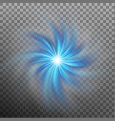 effect of star with flare light with transparency vector image vector image