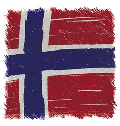 Flag of Norway handmade square shape vector image vector image