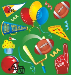 football party icons vector image vector image