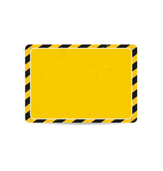 hazard frame caution frame with black and yellow vector image vector image