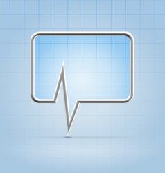 Medical forum application icon vector image