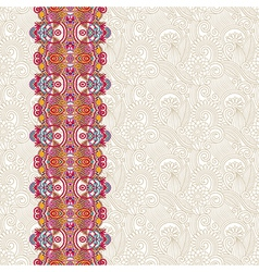 ornate floral background with ornament stripe vector image vector image