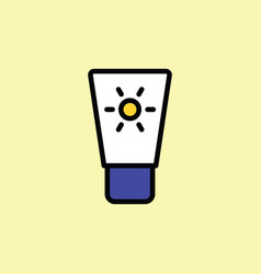 sunscreen icon thin line on color background vector image