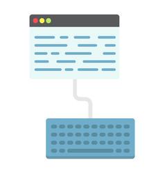 copywriting flat icon seo and development vector image vector image