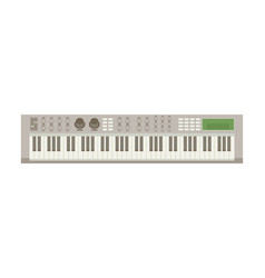 Electric piano flat vector