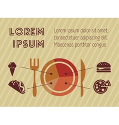 Fastfood Infographic Template vector image